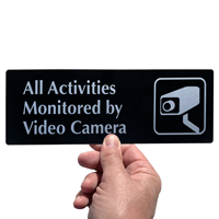 All Activities Monitored Video Camera Sign