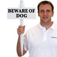 Beware of Dog EasyStake Sign