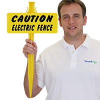 Caution Electric Fence bolt-on Sign