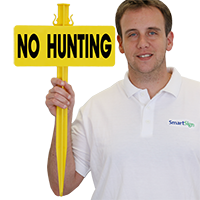 No Hunting EasyStake Sign and Stake