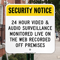 Video & Audio Surveillance Sign