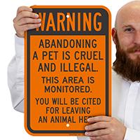Pet Abandonment Warning Sign