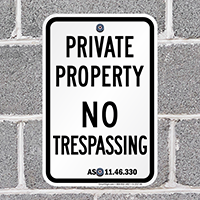 Alaska No Trespassing Sign