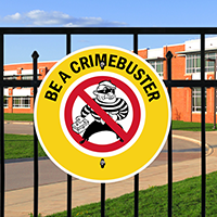 Be A CrimeBuster Circle Sign