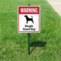 Warning Beagle Guard Dog LawnBoss™ Signs