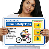 Bike Tips (Stop) McGruff Bike Safety Sign