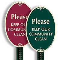 Please Keep our Community Clean Sign