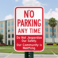 No Parking Anytime Signs