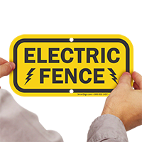 Electric Fence High Voltage Sign