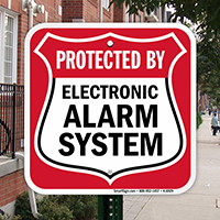 Electronic Alarm System Sign