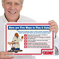 Five Ways to Play it Safe McGruff Sign