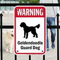 Warning Golden Doodle Guard Dog Guard Dog Sign