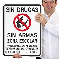 Sin Drogas Sin Armas Zona Spanish Sign