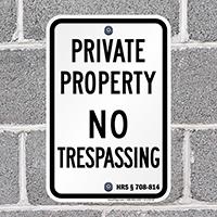 Hawaii No Trespassing Sign