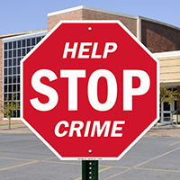 Help Stop Crime Sign
