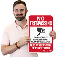 Idaho Trespassers Will Be Prosecuted Sign