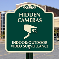 Indoor Outdoor Video Surveillance SignatureSign