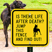 Is There Life After Death Dog Sign