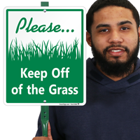 Keep Off Of The Grass Lawnboss Sign Kit