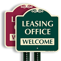 Leasing Office Welcome Sign