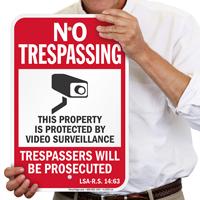 Louisiana Trespassers Will Be Prosecuted Sign