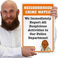 Neighborhood Crime Watch McGruff Sign