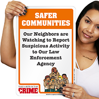 Safer Communities McGruff Sign