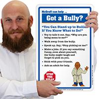McGruff No Bullies Sign