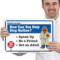 Help Stop Bullies McGruff Sign