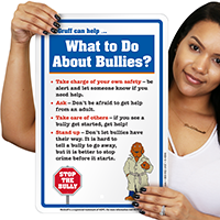 What To Do About Bullies? McGruff Sign