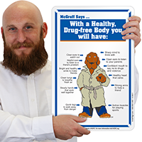 Healthy Drug Free Safety McGruff Sign
