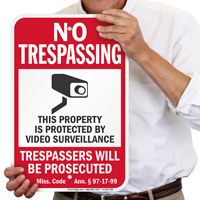 Mississippi Trespassers Will Be Prosecuted Sign