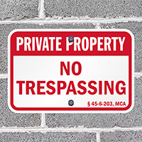 Montana Private Property Sign