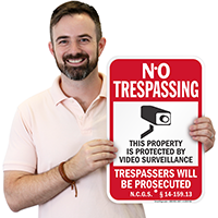 North Carolina Trespassers Will Be Prosecuted Sign