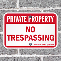 Nebraska Private Property Sign