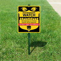 Neighborhood Watch All Suspicious Activity Sign
