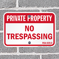 New Hampshire Private Property Sign