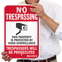 New Hampshire Property Protected By Video Surveillance Sign