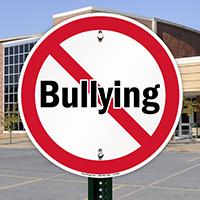 No Bullying, Security Signs in Circle