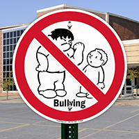 No Bullying Sign