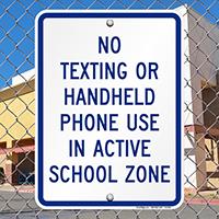 No Handheld Phone Sign