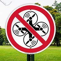 No Drone Symbol Sign
