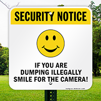 If You are Dumping Illegally, Smile for the Camera!