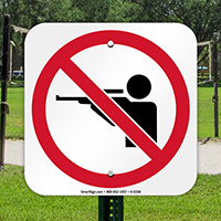No Hunting Security Sign