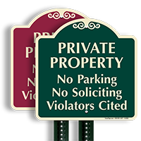 Private Property No Parking Violators Cited SignatureSign