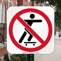 No Skateboarding Symbol Sign