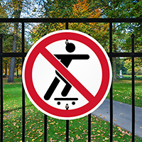 No Skate Boarding symbol Sign