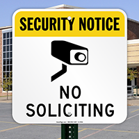 No Soliciting Sign (with Graphic)