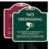 No Trespassing, Video Surveillance Sign