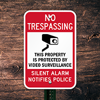 Alarm System In Use No Trespassing Surveillance Sign